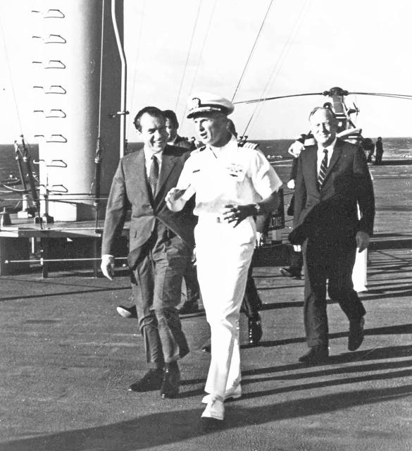 Nixon arrival
