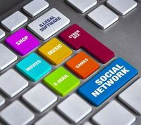 Keyboard with social