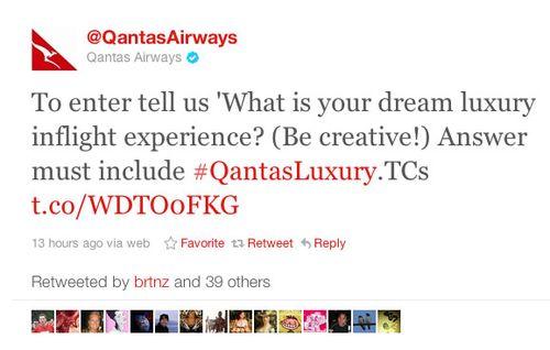 Qantas twitter