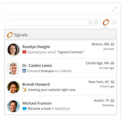 Signals screen shot