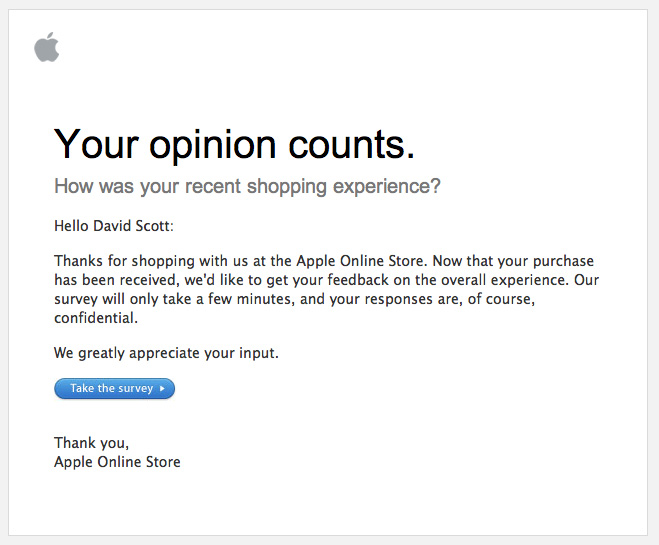 Apple survey
