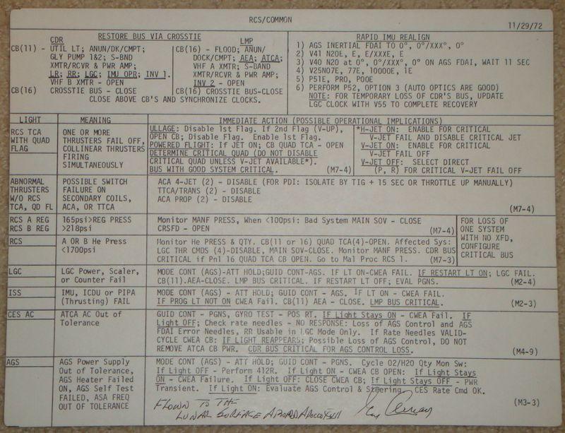 A17 LM RCS cue card