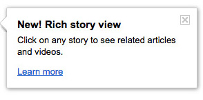 Google News Rich Story View