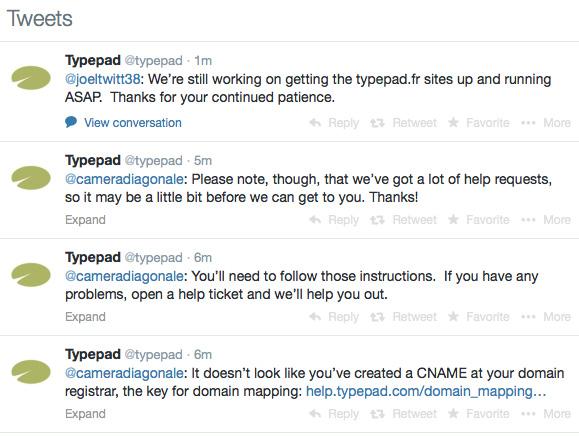 Typepad tweets