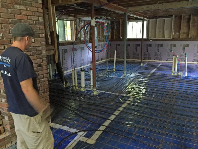 Radiant floor install